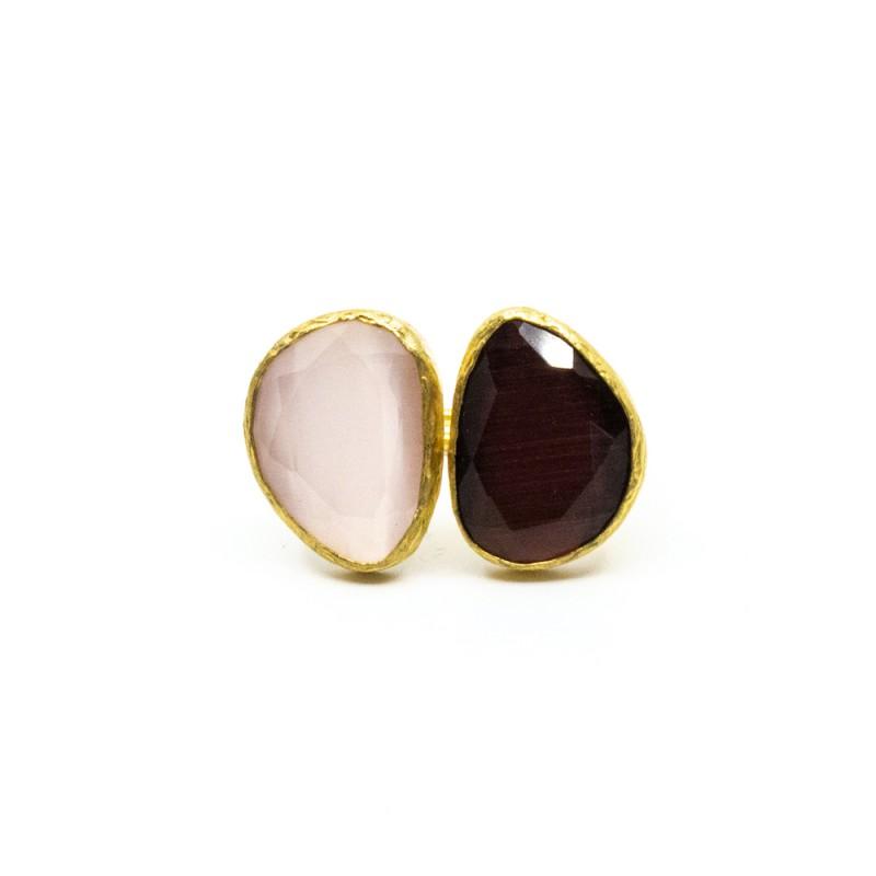 Double Omikron Ring Brun