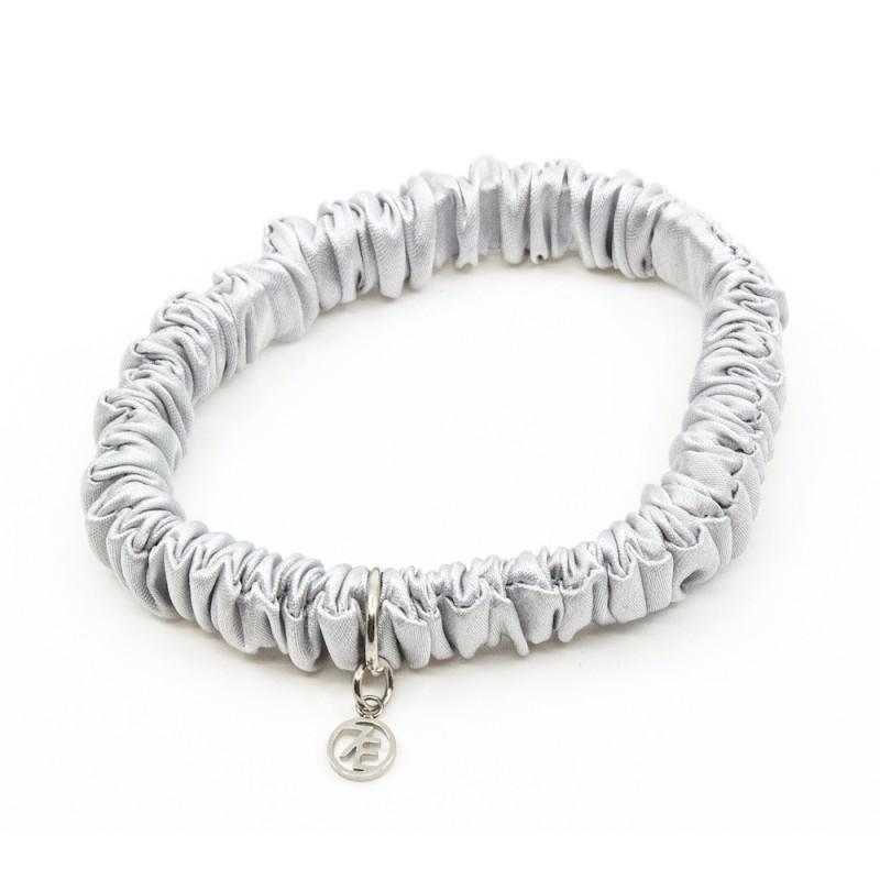 Silk Scrunchie Mini Grey