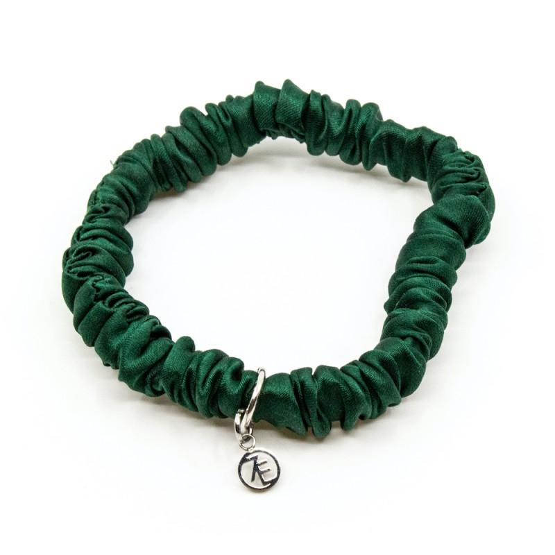 Silk Scrunchie Mini Green