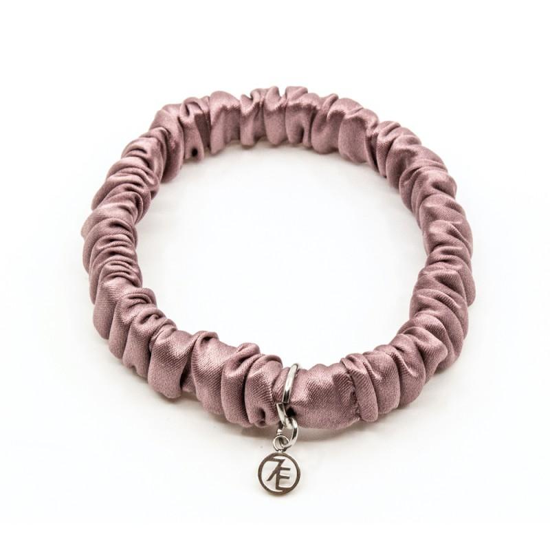 Silk Scrunchie Mini Rosa