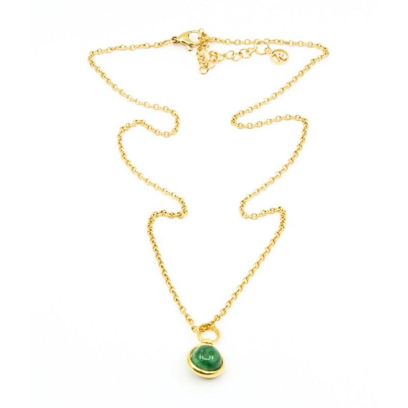 Beads Single Halsband 42cm Grön