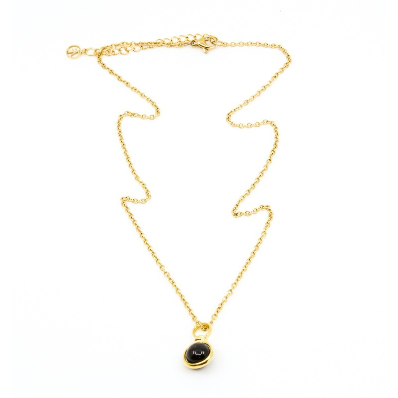 Beads Single Halsband 42cm Svart